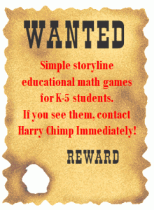 Wanted Poster For Online Math Games