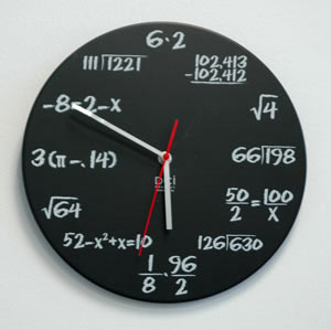 Middle School Math Clock