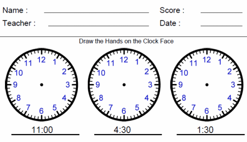 Analog Clocks from Digital Worksheet