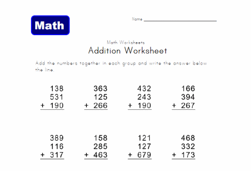 Math Worksheets For 2nd Grade – Elementary School Math Worksheets