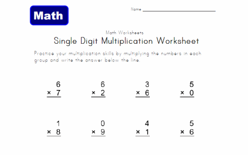 Math Worksheets For 3rd Grade – 3rd Grade Multiplication Worksheet