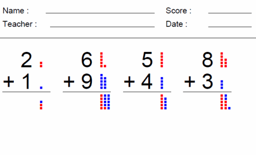 Counting with Dots Worksheet