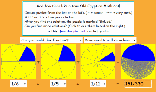 Add and Subtracting Fraction Games