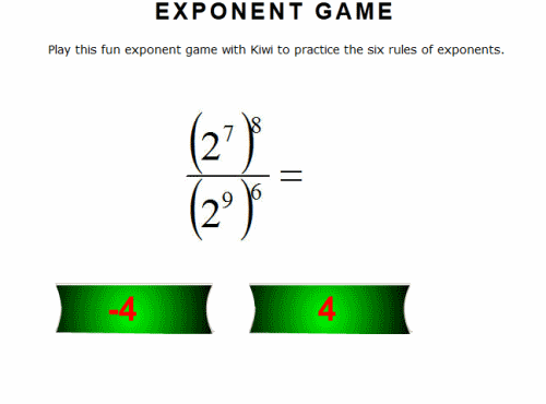8Th Grade Exponents Worksheets – 5th Grade Math Exponents Worksheets