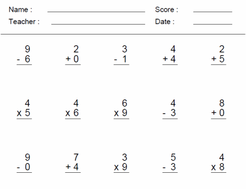 Math Worksheets For 3rd Grade – Math for Grade 3 Worksheets