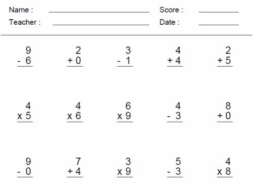 Number Names Worksheets addition math sheet : 3d Grade Math Worksheets - Davezan