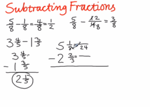 How Do You Subtract Fractions With A Whole Number - Yourhelpfulelf