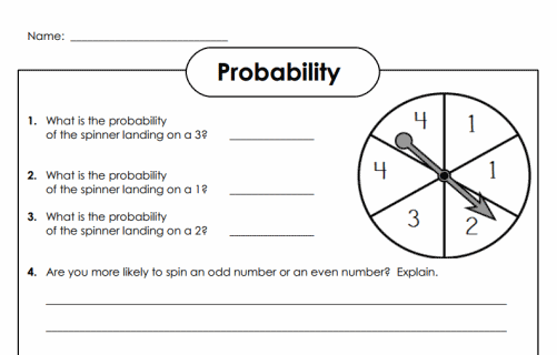 Probability Worksheets 7th Grade Math on 3 dimensional nets worksheets