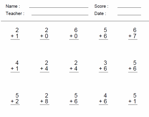 Math Worksheets For 1st Grade – Addition Worksheets Online