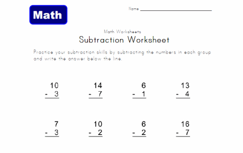 Add and subtract within 20 1st Grade – Subtraction to 10 Worksheets