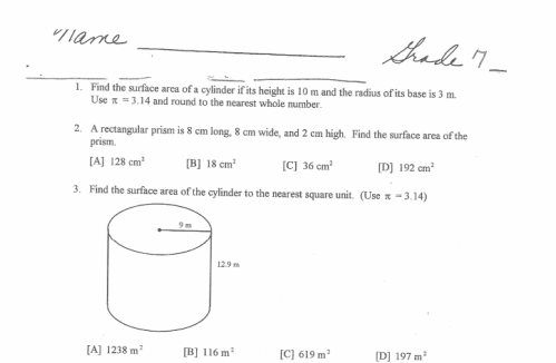 pre algebra worksheets 7th grade